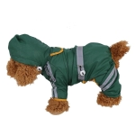 Waterproof Jacket Clothes Fashion Pet Raincoat Puppy Dog Cat Hoodie Raincoat, Size:S(Green )