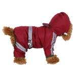 Waterproof Jacket Clothes Fashion Pet Raincoat Puppy Dog Cat Hoodie Raincoat, Size:M(Red)