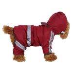 Waterproof Jacket Clothes Fashion Pet Raincoat Puppy Dog Cat Hoodie Raincoat, Size:XXL(Red)