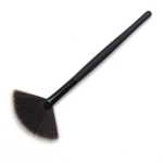 3 PCS Curved Fiber Hair Small Fan-shaped Brush Rest Powder Brush Makeup Brush Loose Powder(Small fan-shaped brush)
