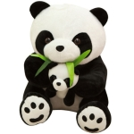 PP Cotton Parent-Child Panda Plush Pillow Doll(20cm)