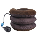 Inflatable Air Cervical Neck Traction Device Soft Head Back Shoulder Neck Ache Massager Headache Pain Relieve Relaxation Brace(Coffee)
