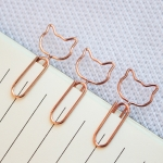 Creative Paper Clip Cat Shape Clip Bookmark Shool Stationary Office Clip Paperclips, Size:1.3x3cm