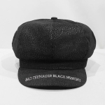 Winter Warm Letter Print Octagonal for Women and girl Berets Painter Hat Beanie Cap(Black)