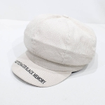 Winter Warm Letter Print Octagonal for Women and girl Berets Painter Hat Beanie Cap(WHITE)
