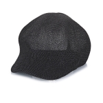 Spring and Summer Korean Version of the New Light Body Solid Color Casual Bump Beret Hat Female Outdoor Fashion Duck Tongue Octagonal Cap(black)
