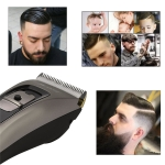 Ceramic Titanium Alloy Blade Hair Trimmer Clipper USB Rechargeable Electric Razor Beard Shaver Trimer With LED Digital Display UK