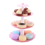 Kids Food Toy Children Cake Desserts Tower Party Tea Set Pretend Role Play Food Toys
