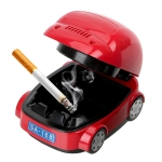 Creative Electric Car Type Ashtray Environmental Protection Smokeless Ashtray Craft Gift(Red)