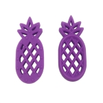 5 PCS Pineapple Silicone Teether Babies Teething Pendant Nursing Soft Silicone Safe Toys for Soothe Teething Baby(Purple)