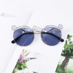 Fashion Kids Mouse Shape Sunglasses Children Tint Lens Ultraviolet-proof Polarized Sunglasses(Blue)