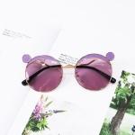 Fashion Kids Mouse Shape Sunglasses Children Tint Lens Ultraviolet-proof Polarized Sunglasses(Purple)