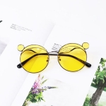 Fashion Kids Mouse Shape Sunglasses Children Tint Lens Ultraviolet-proof Polarized Sunglasses(Yellow)