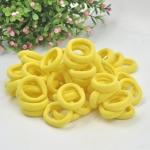 100 PCS Girls Kids Rubber Bands Ponytail Holder Elastic Hair Bands(Yellow)