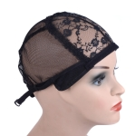 3 PCS Elastic Hair Net Cap Lace Mesh Bottom Cover Wig Accessories, Size:56CM(Black)