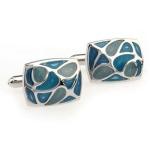 1 Pair Fashion Blue Enamel Cufflink for Men / Women