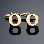 1 pair gold letters A-Z name Cufflinks men French shirt Cufflinks(O)