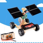 DIY Mini Wooden Car Wireless Remote Control Vehicle Model Kids Toys