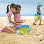 Durable Holding Toys Balls Beach Mesh Tote Bag Beach Swimming Bag Children Sand Bag