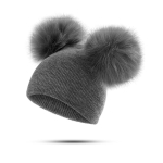 Children Hat Toddler Kids Baby Warm Winter Wool Hat(Grey)