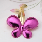 2 PCS Metal Color Children Shiny Hairgrips Baby Hairpins Girls Hair Accessories, Size:4.7cm(Rose  Butterfly)