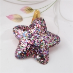 2 PCS Metal Color Children Shiny Hairgrips Baby Hairpins Girls Hair Accessories, Size:4.7cm(Colorful Star)