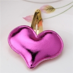 2 PCS Metal Color Children Shiny Hairgrips Baby Hairpins Girls Hair Accessories, Size:4.7cm(Rose Heart)