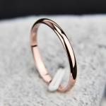 Female Stainless Steel Titanium Steel Ring, Ring Size:10(Rose Gold)