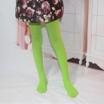 Spring Summer Autumn Solid Color Pantyhose Ballet Dance Tights for Kids, Size:S(Grass Green)