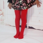 Spring Summer Autumn Solid Color Pantyhose Ballet Dance Tights for Kids, Size:XL(Grand Red)