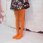 Spring Summer Autumn Solid Color Pantyhose Ballet Dance Tights for Kids, Size:XXL(Orange)