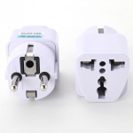 Universal UK US AU To EU AC Power Socket Plug Travel Charger Adapter Converter Power Connector EU Plug(WHITE)