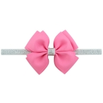2 PCS Baby Hair Bow Fower Headband Silver Ribbon Hair Band Handmade DIY Hair Accessories, Size:One Size(13#)