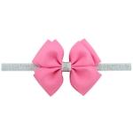 2 PCS Baby Hair Bow Fower Headband Silver Ribbon Hair Band Handmade DIY Hair Accessories, Size:One Size(13#)