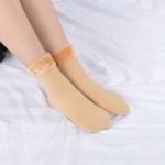 3 Pairs Winter Wamer Women Thicken Thermal Wool Cashmere Snow Socks Seamless Velvet Boots Floor Sleeping Socks for Mens, Color:khaki