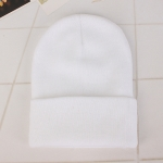 Simple Solid Color Warm Pullover Knit Cap for Men / Women(White )