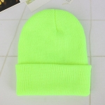 Simple Solid Color Warm Pullover Knit Cap for Men / Women(Light Green )