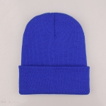 Simple Solid Color Warm Pullover Knit Cap for Men / Women(Royal Blue )