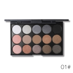 Shimmer Matte Eyeshadow Palette Makeup Kit Pigment Glitter Eye Shadow Nude Smoky Palette Cosmetics(E15_1(2#))