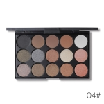 Shimmer Matte Eyeshadow Palette Makeup Kit Pigment Glitter Eye Shadow Nude Smoky Palette Cosmetics(E15_4(4#))