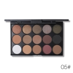 Shimmer Matte Eyeshadow Palette Makeup Kit Pigment Glitter Eye Shadow Nude Smoky Palette Cosmetics(E15_5(5#))
