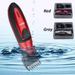 Waterproof Electric Hair Clipper Rechargeable Hair Trimmer Hair Cutting Machine Haircut Beard Trimer(Red)