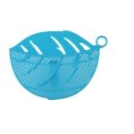 2 PCS Leaf Shaped Rice Wash Gadget Noodles Beans Colanders Strainers Cleaning Tool, Size:10.5×14.5cm(Blue)