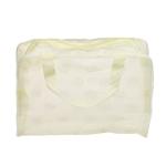 3 PCS Make Up Organizer Bag Toiletry Bathing Storage Bag Women Waterproof Transparent Floral PVC Travel Cosmetic Bag(yellow)