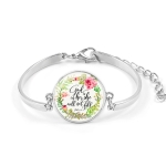 Fashion Bible Scriptures Glass Dome Bracelet(009-3)