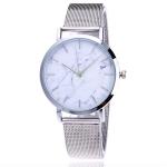 2 PCS Women Marbled Texture Mesh Belt Watch(Silver)