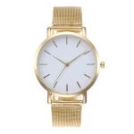 2 PCS Women Wrist Watch Luxury Ladies Watch(Gold)
