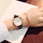 Ulzzang Simple Waterproof Large Dial Watch for Women(Black white)