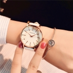 Ulzzang Simple Waterproof Large Dial Watch for Women(white white )