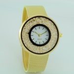 Quick Sand Alloy Mesh Belt Watch(Gold)